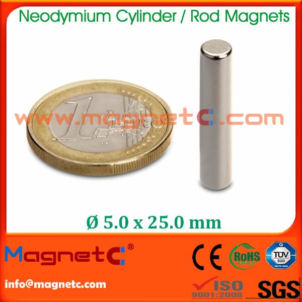 Neodymium Iron Boron Rod Magnets