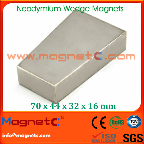 Wedge Shaped Magnet for Motor