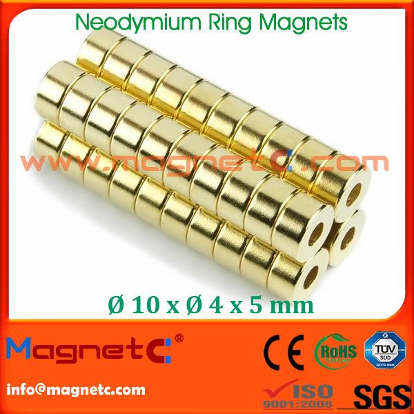 Neodymium Magnet Ring N40 Gloden