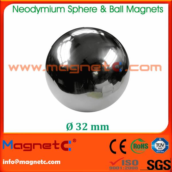 Diameter 32mm Sphere Ndfeb Magnet