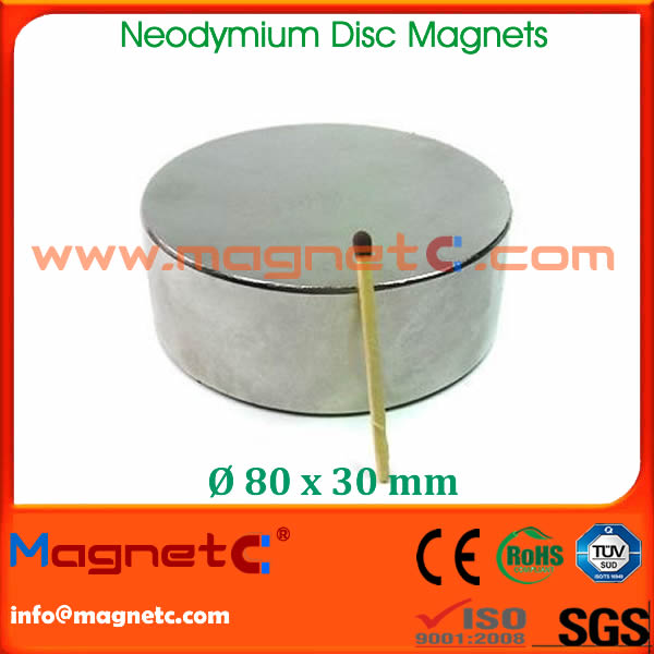 Disc Rare Earth NdFeB Magnet N50