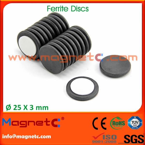 Disc Barium Strontium Ferrite Magnet Disc Ferrite 216 25