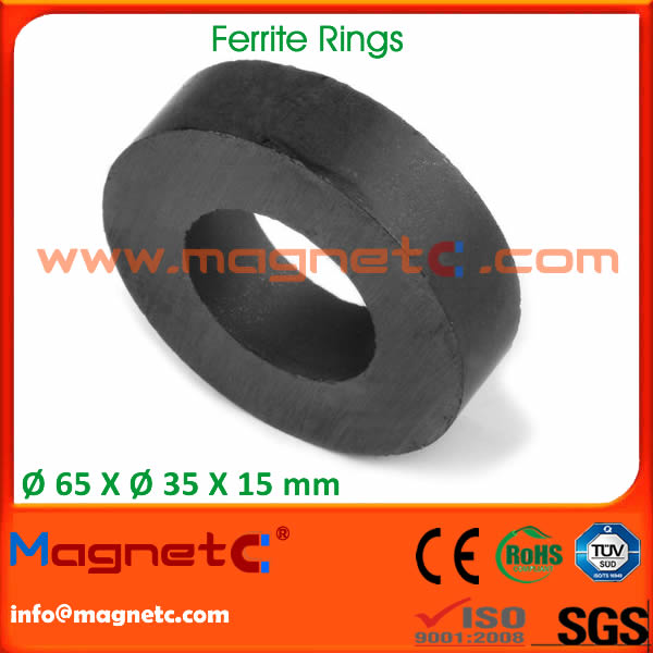 Sintered Ceramic Magnets Ring Shaped
