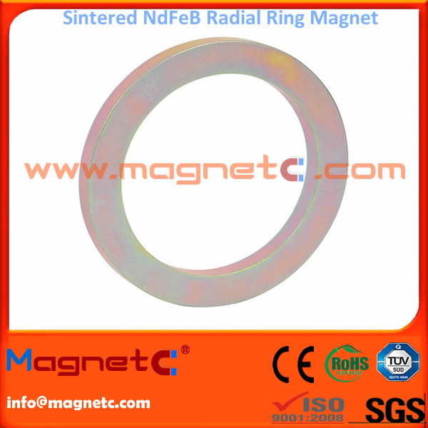 Radial Magnetization Magnetic Ring with Color Zn Coating