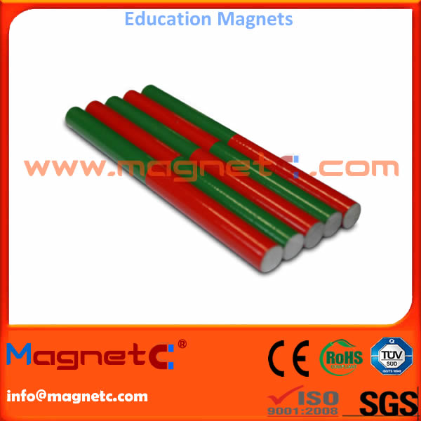 Red and Green Educational Magnetic Bars Rods