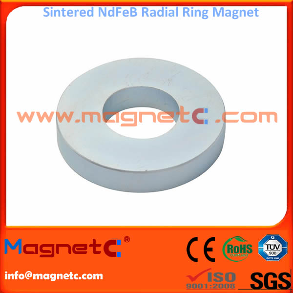 Permanent Radial Ring Magnet with Zinc Coating