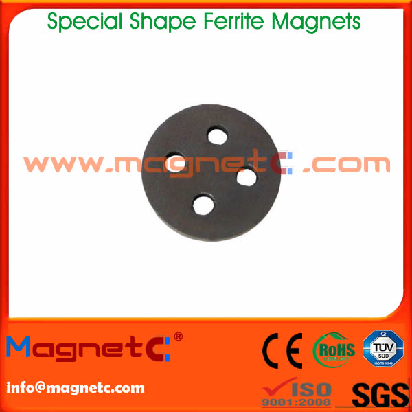 Disc Ferrite Magnet with 4 Holes