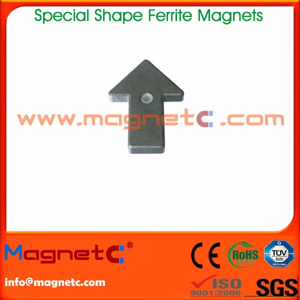Arrow Shaped Ferrite Magnets