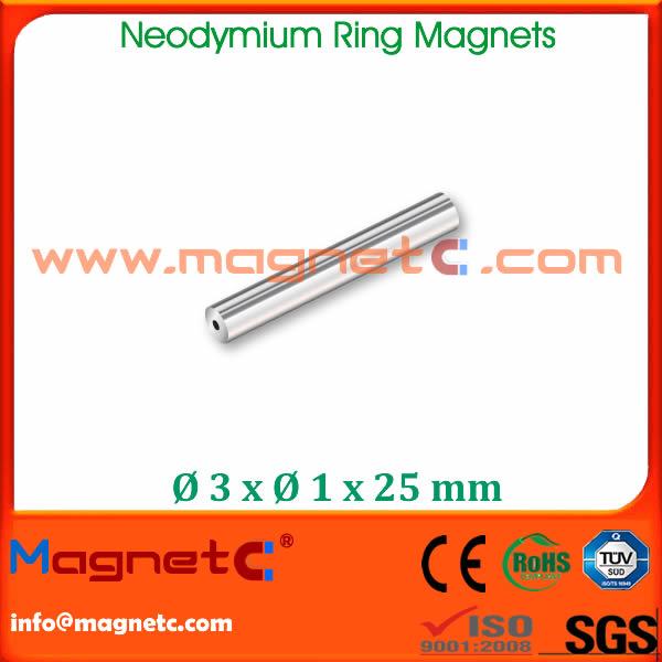 Neodymium Tube Magnets Nickel Plated