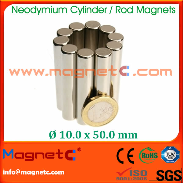 NdFeB Rare Earth Rod Magnet