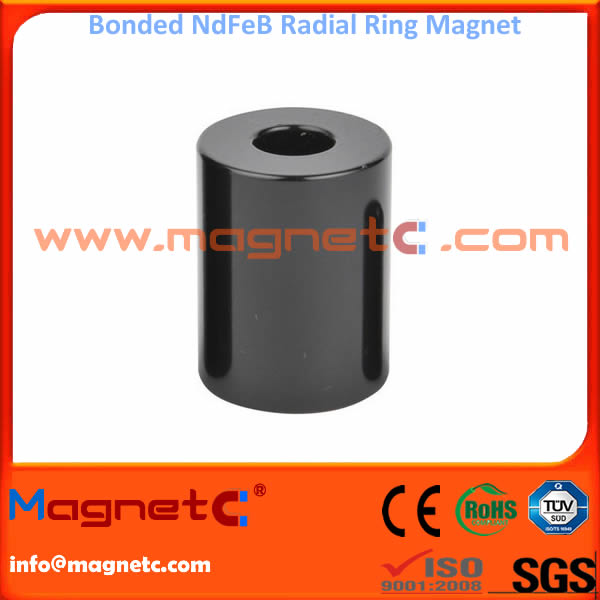 Radially Aligned Bonded NdFeB Magnets
