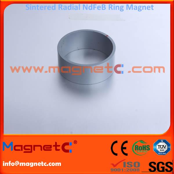 Radial Orientation Sintered NdFeB Ring Gray Epoxy