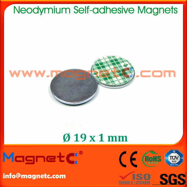 Rare Earth Neodymium Self Adhesive Magnet