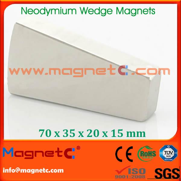NdFeB Wedge Permanent Magnets