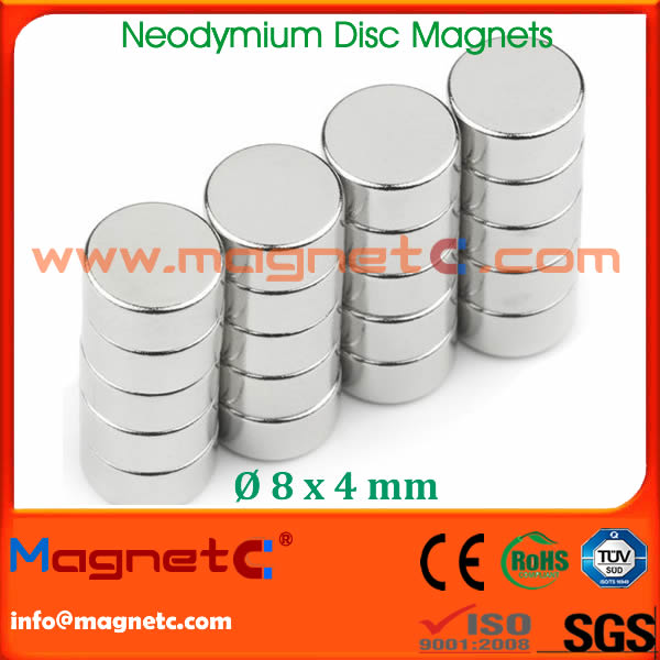 Disc Magnets NdFeB N42