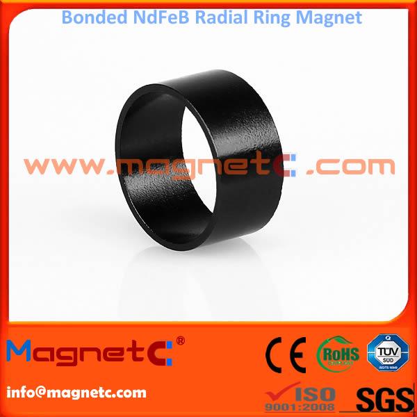 Plastic Bonded NdFeB Magnets Radial Ring