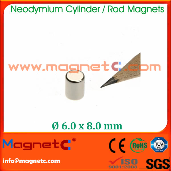 Lower Price Cylinder Rod Magnet