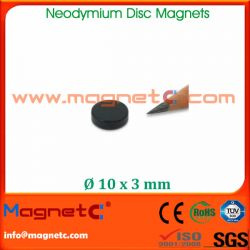 Black Epoxy Coating Neodymium Magnet