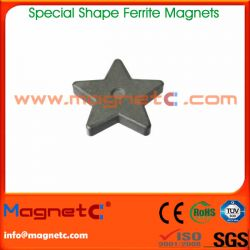 Five-pointed Star Shaped Ferrite Magnets