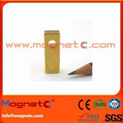 Au Coating NdFeB Linear Motor Magnet