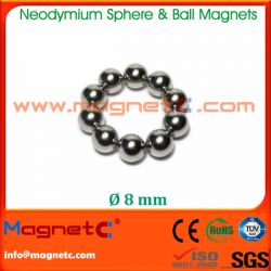 Sintered Neodymium Ball Magnet 8mm