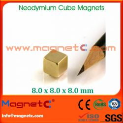Customized N38 Neodymium Cube Magnet