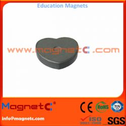 Sintered Ferrite Education Magnet Heart Shaped