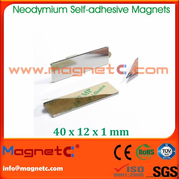 Neodymium Block Magnet Self Adhesive