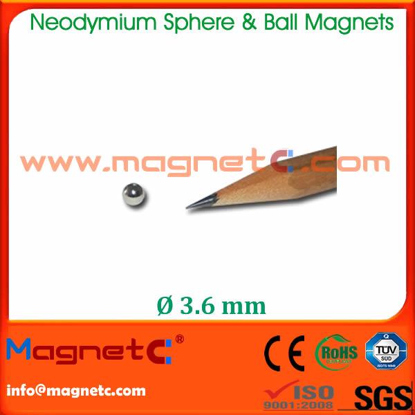 Diameter 3.6mm Sphere Toy Magnet