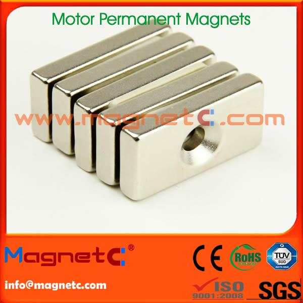 Countersunk Block Magnets for Wind Turbine