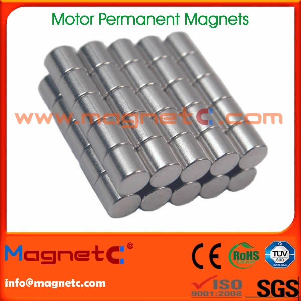 Cylinder Neodymium Motor Magnet Universal Motor Ndfeb