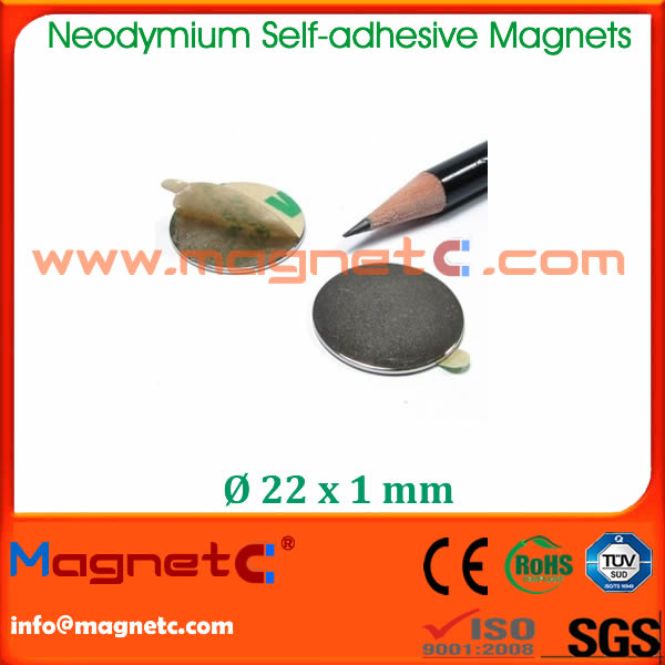 Neodymium Magnet with Strong 3M Self Adhesive