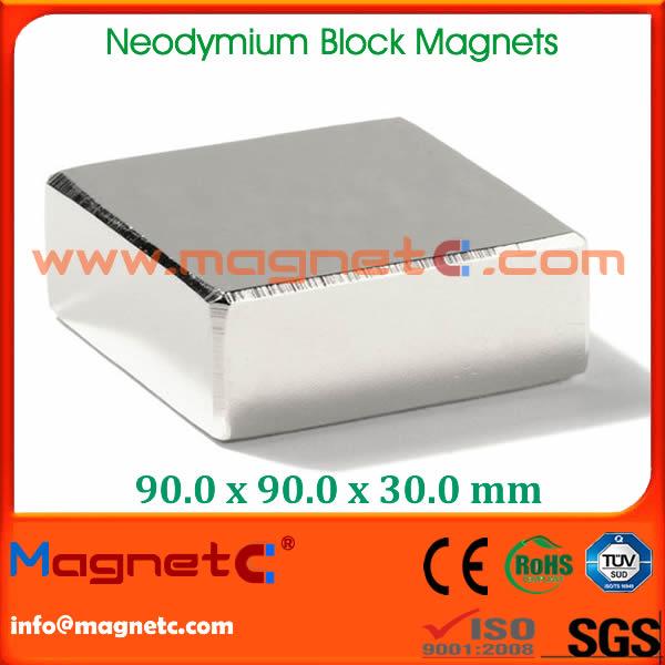 Block Shape Neodymium Motor Magnet
