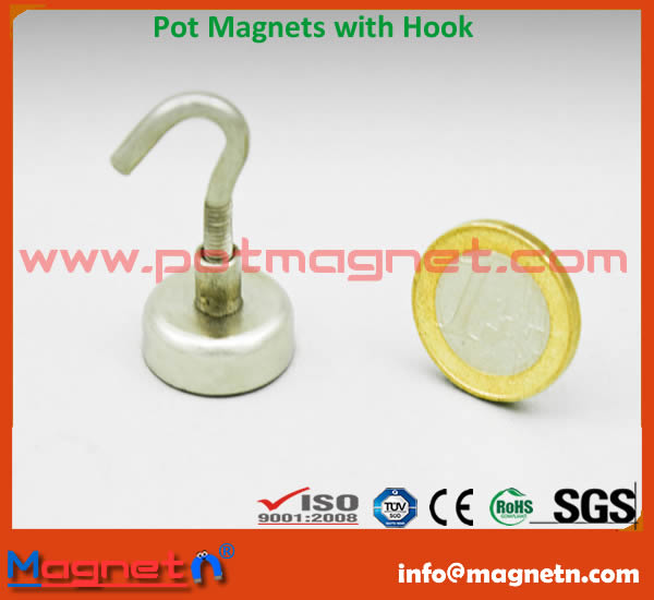 NdFeB Pot Magnet with Hook