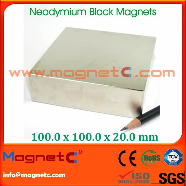 Rare Earth Block Motor Magnet